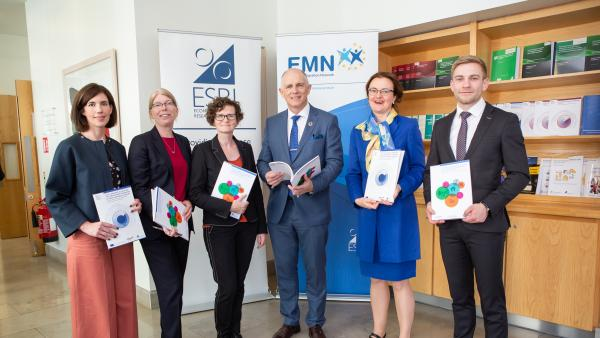 Minister David Stanton at an event in the ESRI called Migrant integration: policy and place 26 June 2019