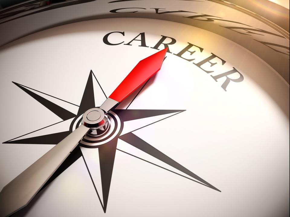 "Image of compass with the word ""career"""