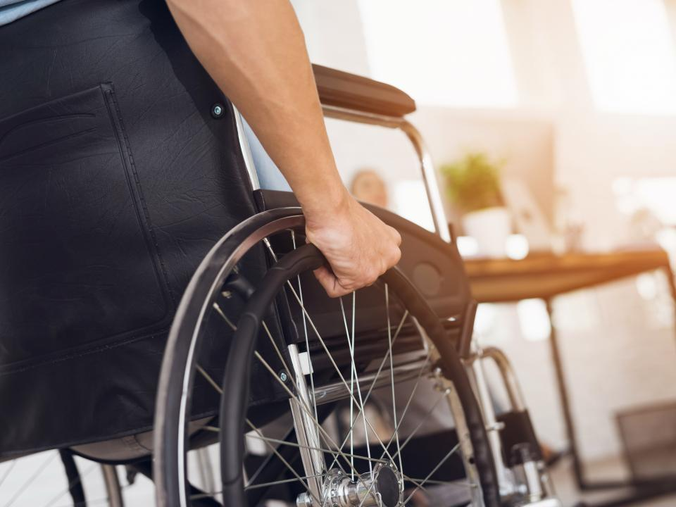 Person using a wheelchair