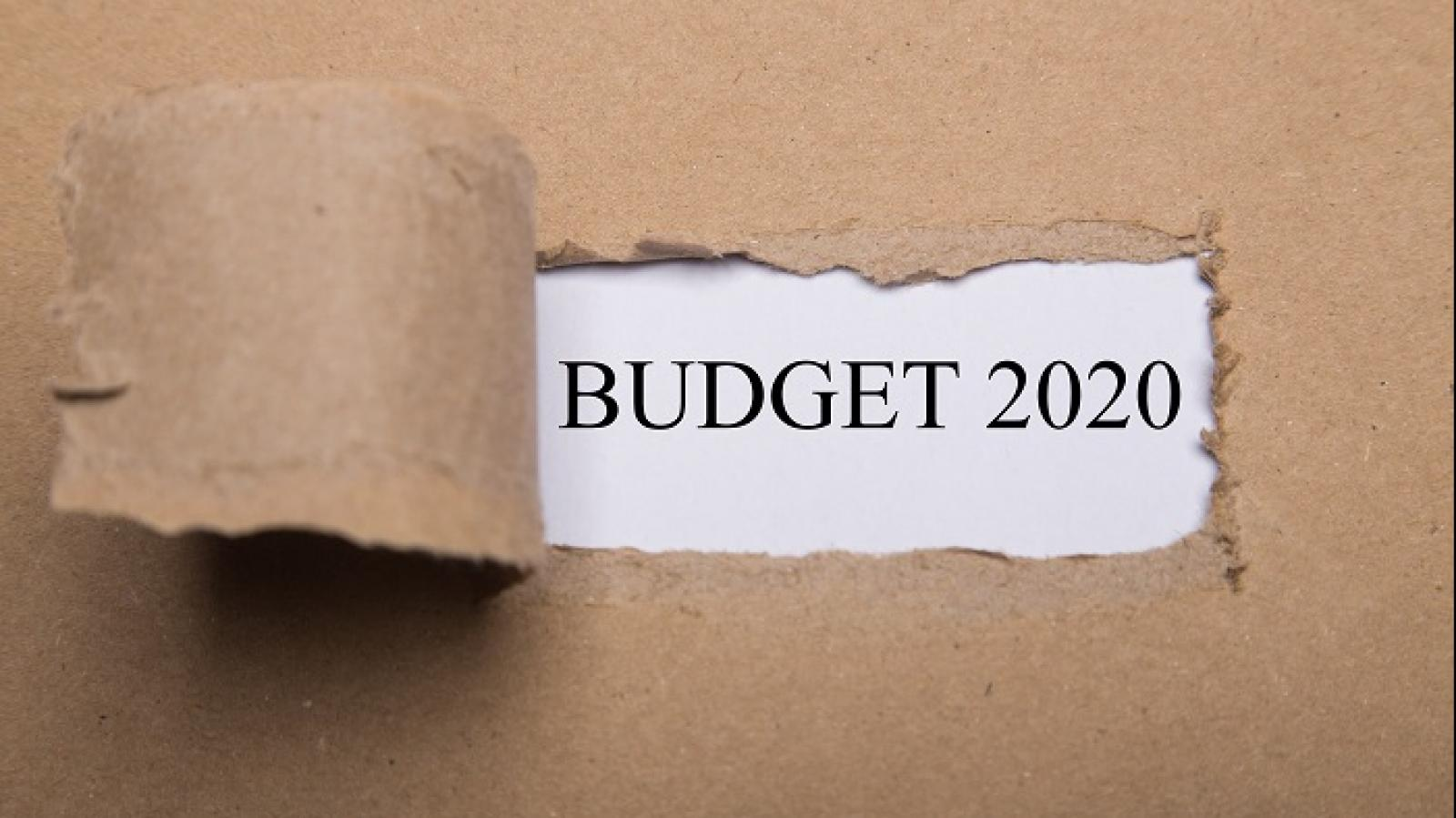 The words 'Budget 2020' are displayed in this image