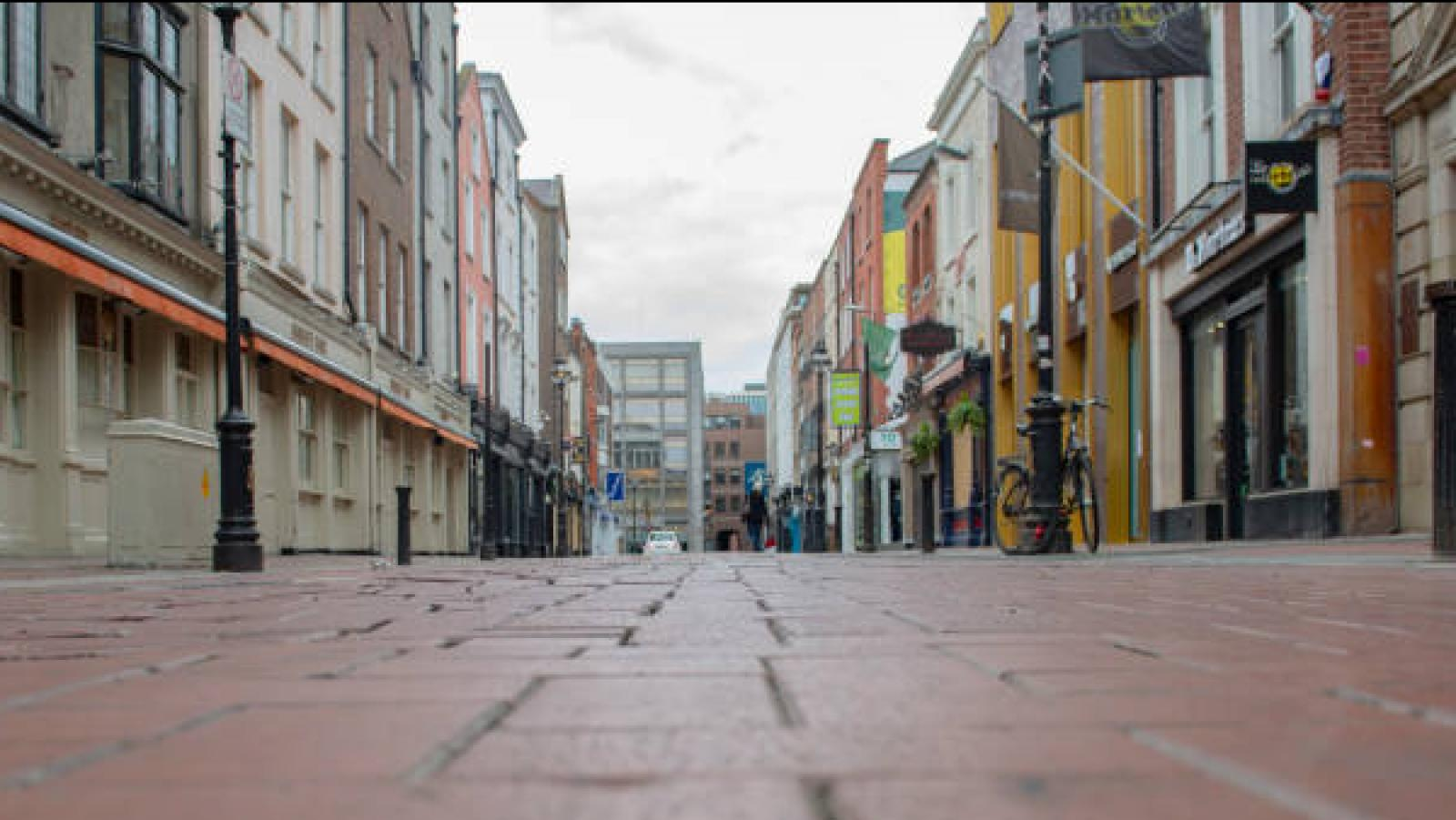 A Dublin street during the lockdown period